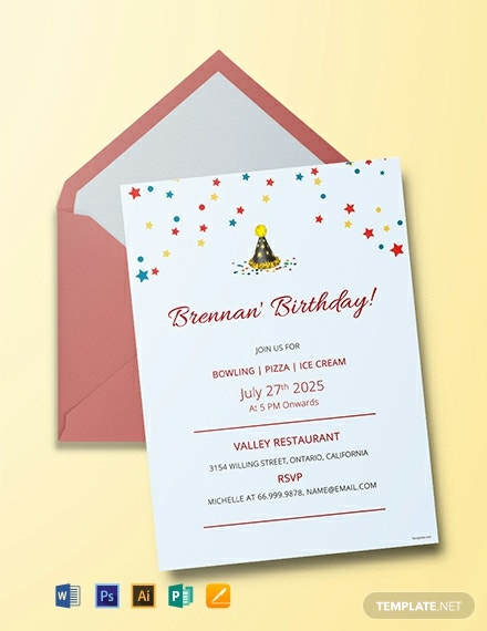 128 Free Birthday Invitation Templates Word Psd