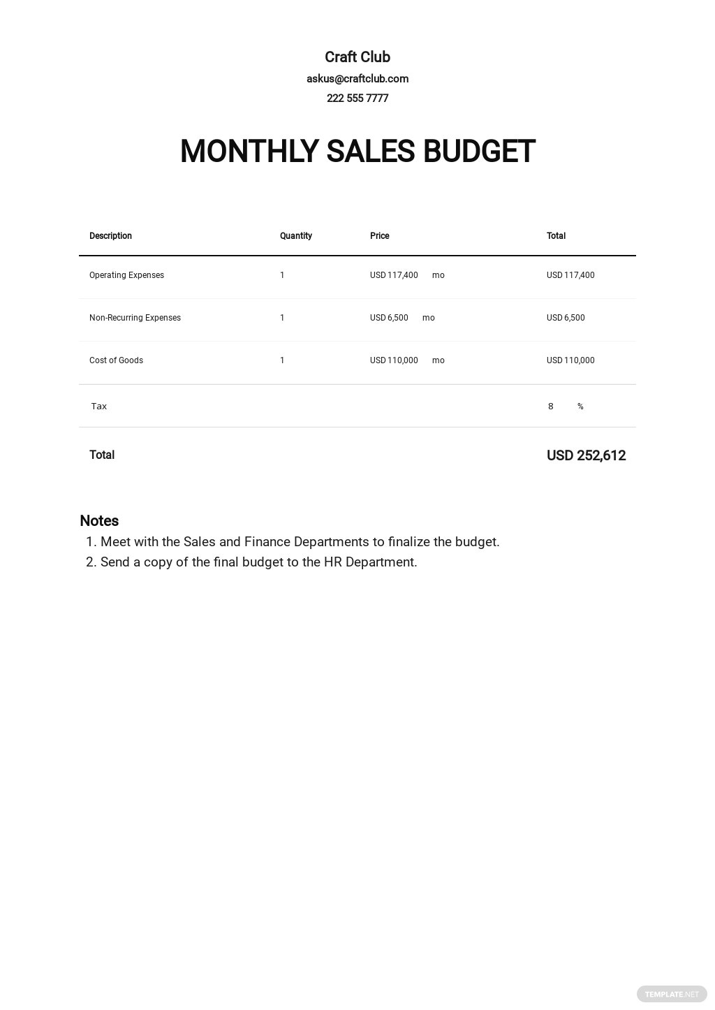 Monthly Sales Budget Template.jpe