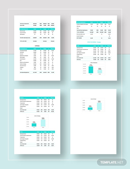 Monthly Sales Budget Templates