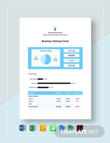 New Business Start Up Costs Template