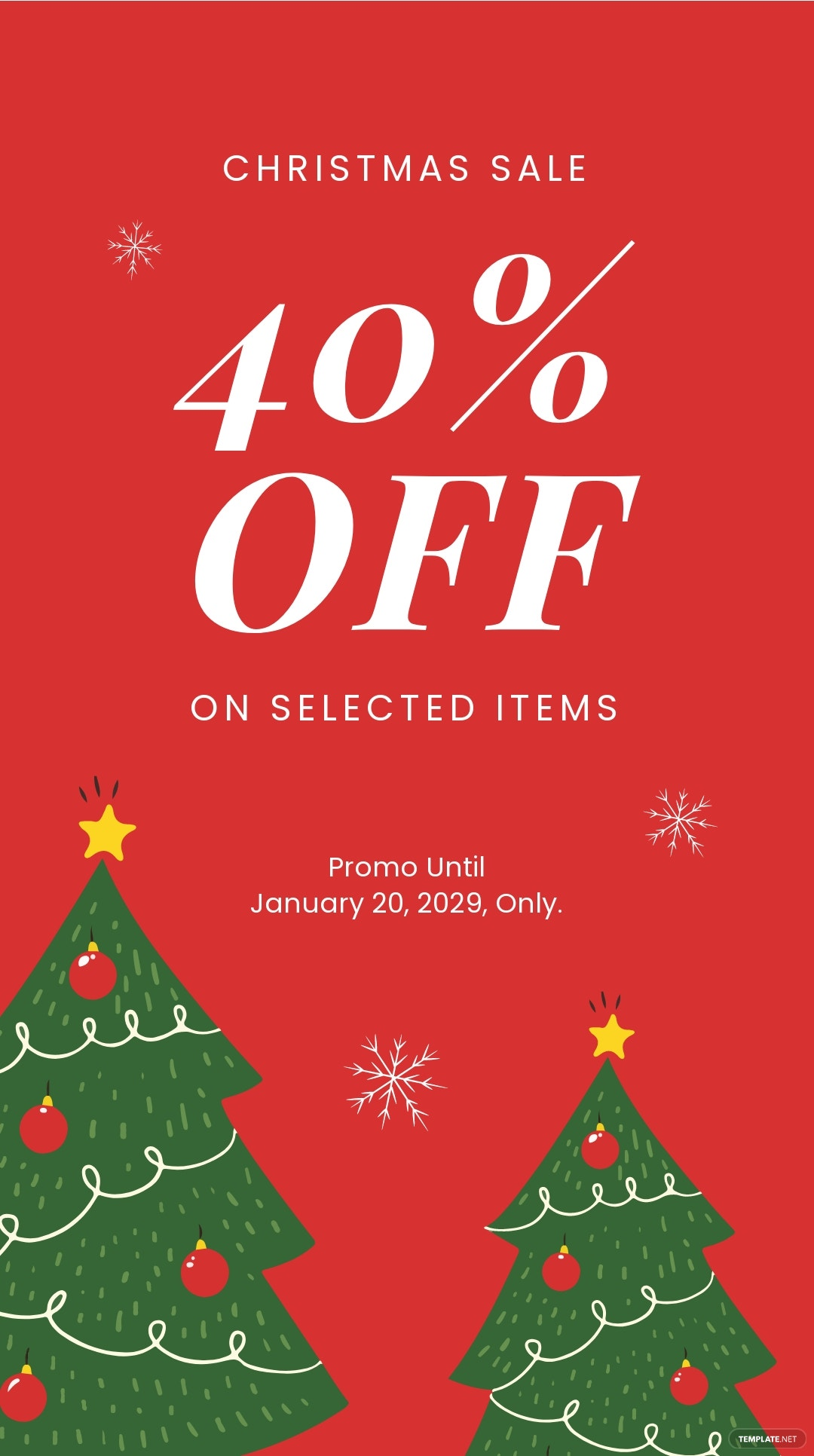 Christmas Holiday Sale Instagram Story Template