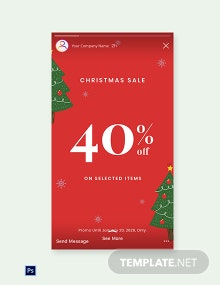Free Christmas Holiday Sale Instagram Story Template