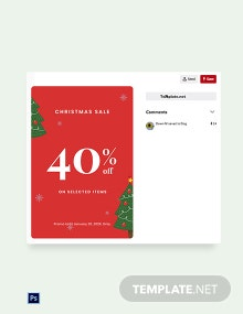 Free Christmas Holiday Sale Pinterest Pin Template