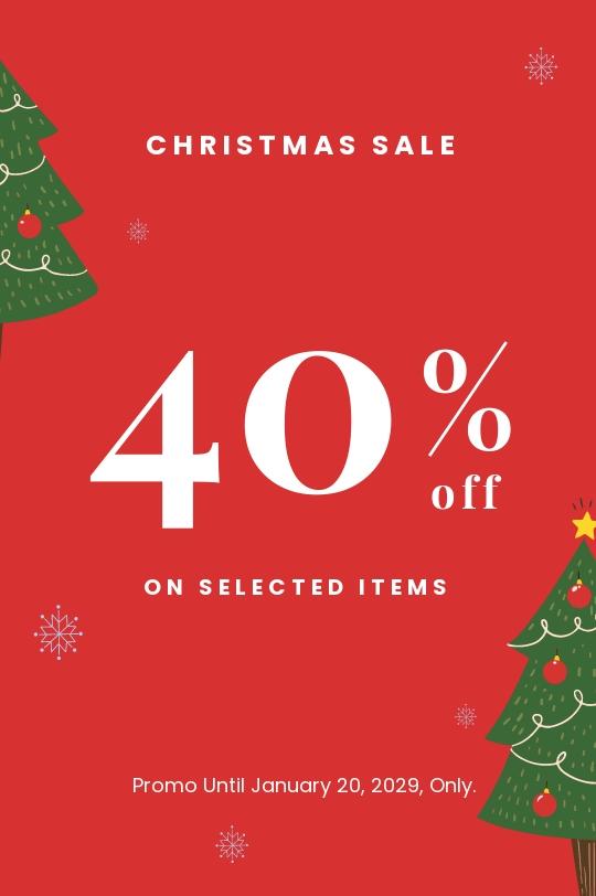 Free Christmas Holiday Sale Tumblr Post Template