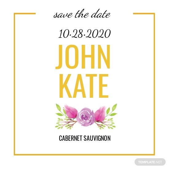 Save the Date Wine Label Template