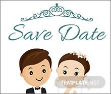 Free Chalkboard Save the Date Invitation Template