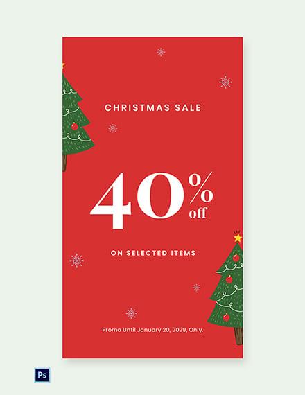 Free Christmas Holiday Sale Whatsapp Image Template