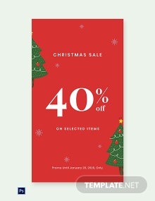Free Christmas Holiday Sale Whatsapp Image Template