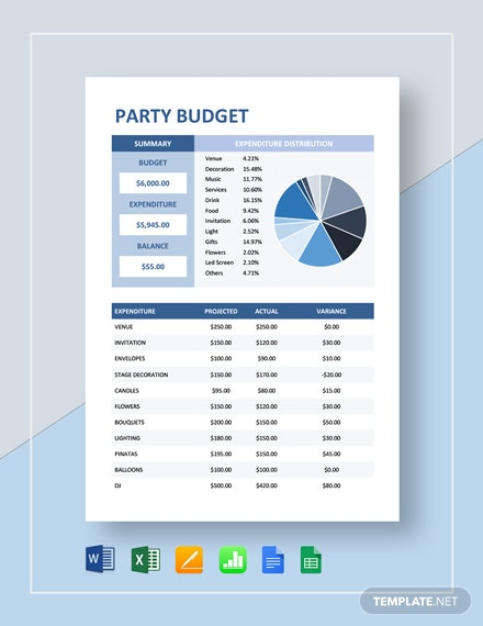 party budget
