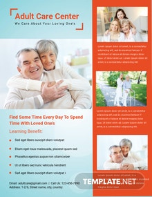 Adult Care Center Flyer Template