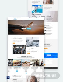 Airlines Aviation Services PSD Landing page Template