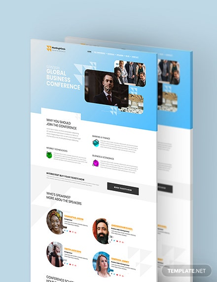 Conference PSD Landing page Download