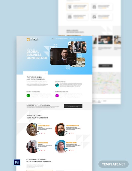 Conference PSD Landing Page Template