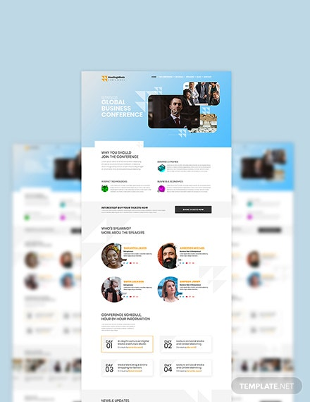 Sample Conference PSD Landing page