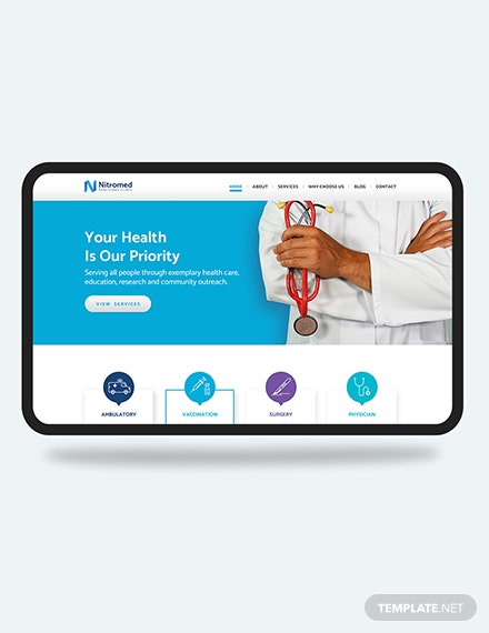 Clinic PSD Landing page Download