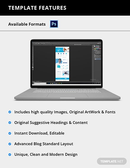Editable Clinic PSD Landing page
