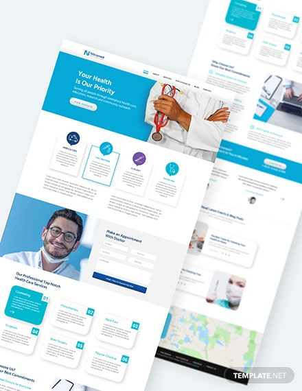 Sample Clinic PSD Landing page