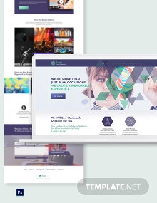 Event Management PSD Landing page Template