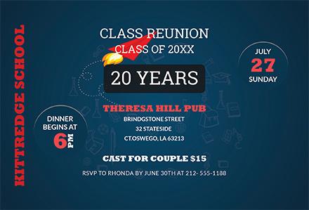 Free Class Reunion Invitation Template: Download 344+ Invitations in ...