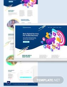 Digital Marketing PSD Landing Page Template
