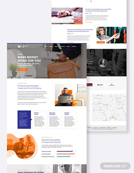 Investment Fund PSD Landing page Download