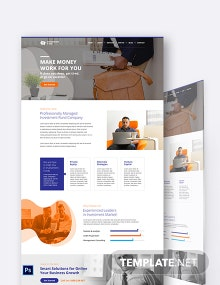 Investment Fund PSD Landing page Template