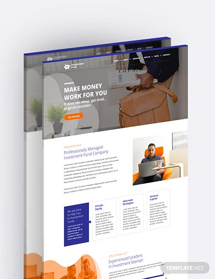 Sample Investment Fund PSD Landing page