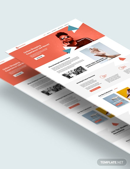 Online Store PSD Landing page Download