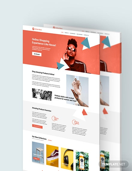 Sample Online Store PSD Landing page