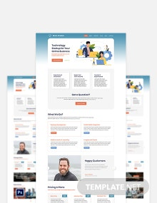 Tech Startup PSD Landing page Template