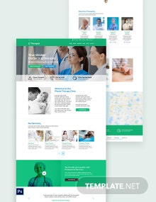 Therapist PSD Landing page Template