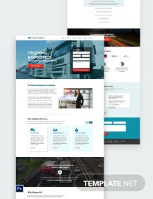 Trucking Logistics PSD Landing Page Template