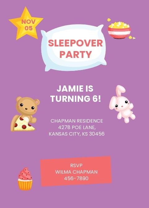 Baby Sleepover Invitation Template.jpe