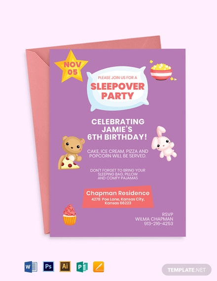 Baby Sleepover Invitation Template