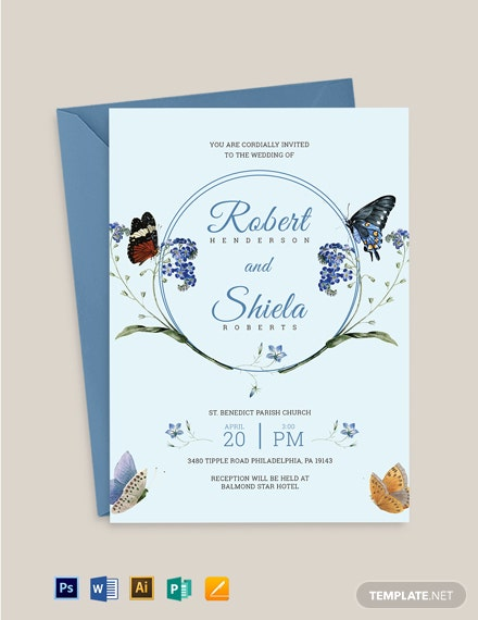 Butterfly Invitation Template