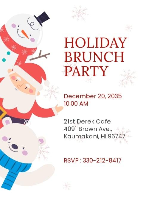 Christmas Brunch Invitation Template