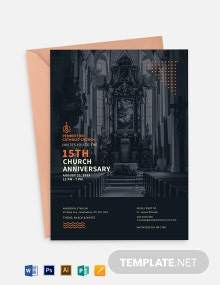 Modern Church Anniversary Invitation Template