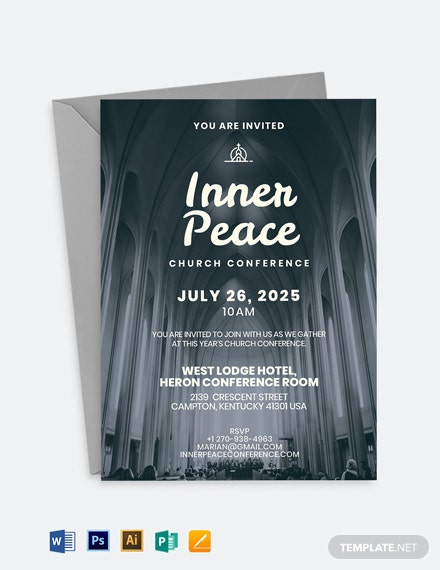 Church Conference Invitation Template
