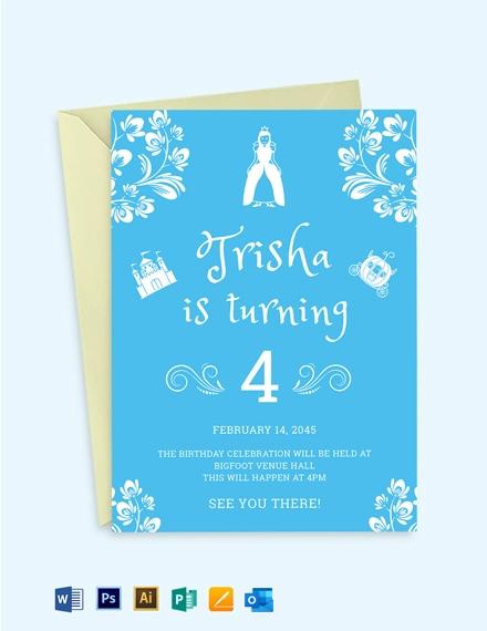 Cinderella Invitation Template