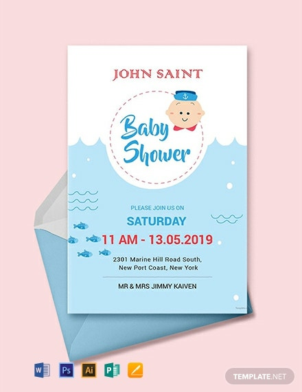 Free Couples Baby Shower Invitation Template