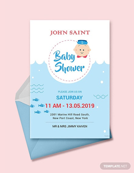 Free S Baby Shower Invitation Template