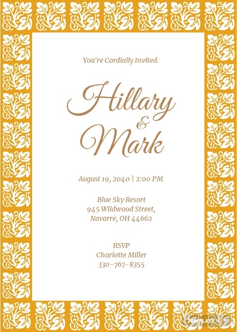Classika Fall Wedding Invitation Template