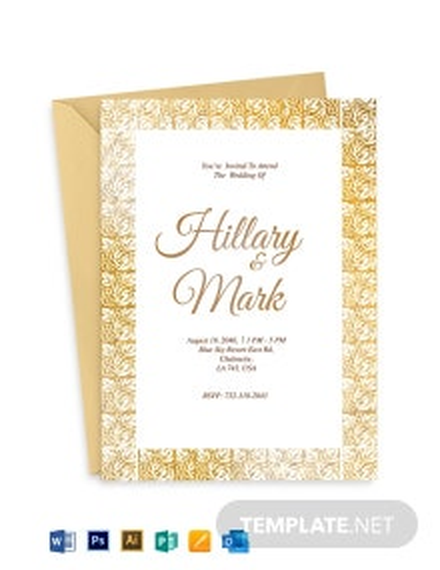 Classika Fall Wedding Invitation Template