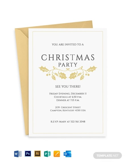 Classy Christmas Invitation Flyer Template