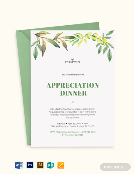 Client Appreciation Dinner Invitation Template