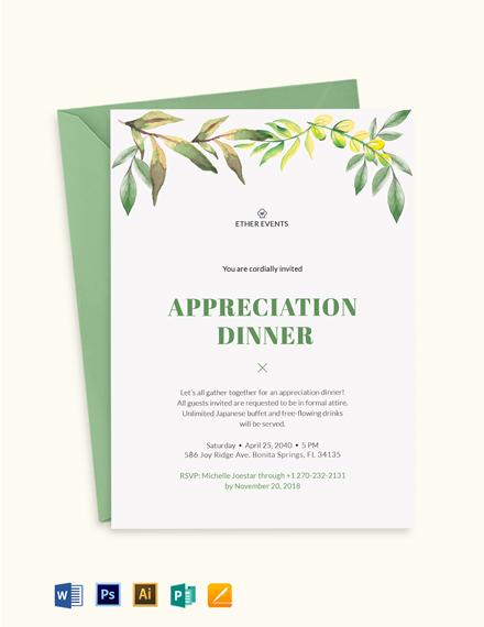 Client Appreciation Dinner Invitation Template