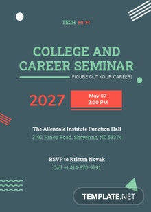 College Seminar Invitation Template
