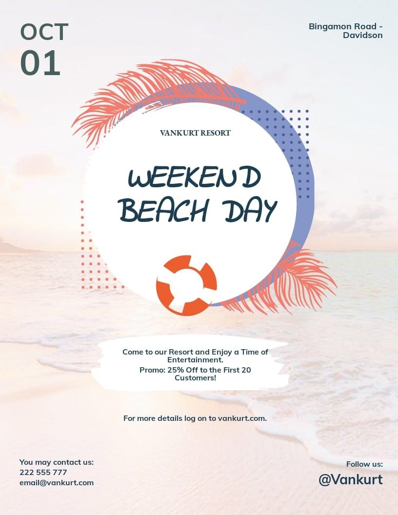 Beach Day Flyer Template