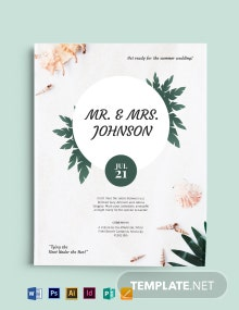 Free Beach Wedding Flyer Template