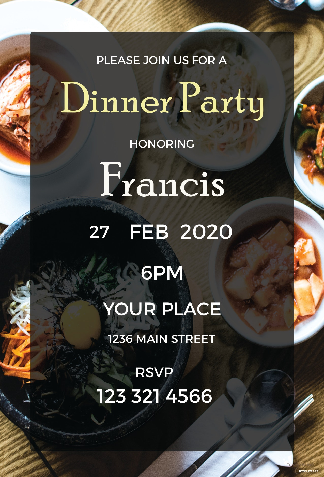 Free Dinner Party Invitation Template in Adobe Photoshop ...